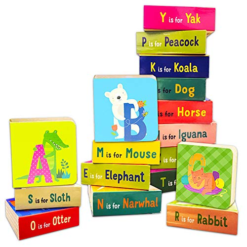Animal ABC Board Books Set Toddlers Babies - Pack of 24