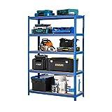 Racking Solutions - Estantería / Estante del garaje/ Sistema de almacenamiento de acero, cargas pesadas, capacidad de carga total 1375kg (5 niveles 1800mm Al x 1200mm An x 450mm Pr) + Envío gratis