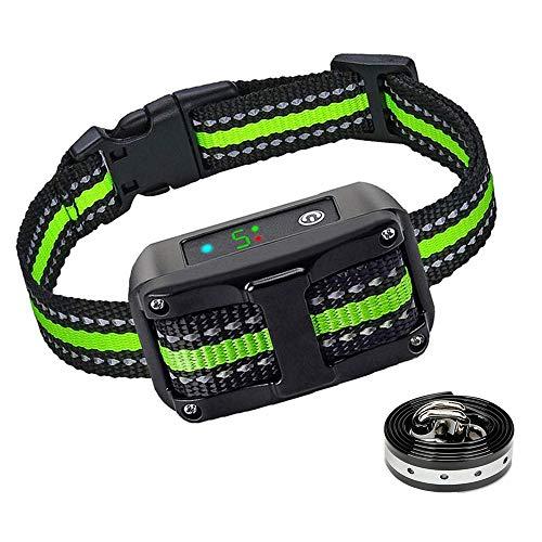 GLEADING Collar Antiladridos con Sonido y Vibración, Collar Ladrido de Perro Automático y Recargable -2 Collares(TPU+Nylon)