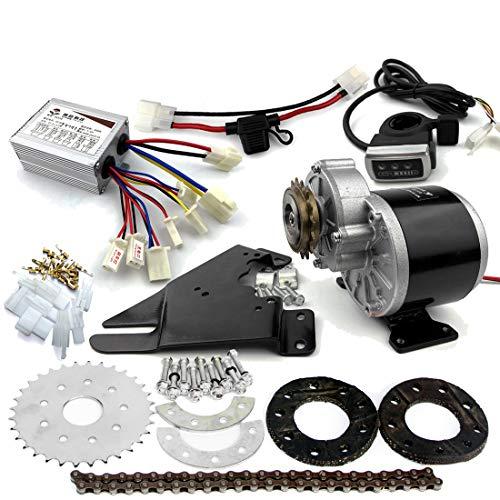 L-faster 350W Motor Diesel engranada Kit del Motor eléctrico del derailleur fijó el Kit eléctrico Variable de la Bicicleta de la Velocidad múltiple (24V Thumb Kit)
