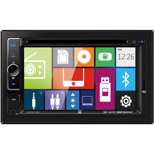 """Dual XDVD210BT 6.2"""" DVD Multimedia Receiver with Bluetooth"""