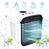 BreadPeal Portable Air Cooler, 5-in-1 Mini Air Conditioner with LED Light and UV Purifier, Personal Air Cooler for Home & Office Desk Outdoors Travel
