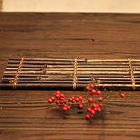 ナチュラルティーバンブーラフトティーセットアクセサリーセレモニーアクセサリーティーテーブルトレイ、ホームリビングルームオフィスティールーム用(Purple bamboo bamboo row 25*40)