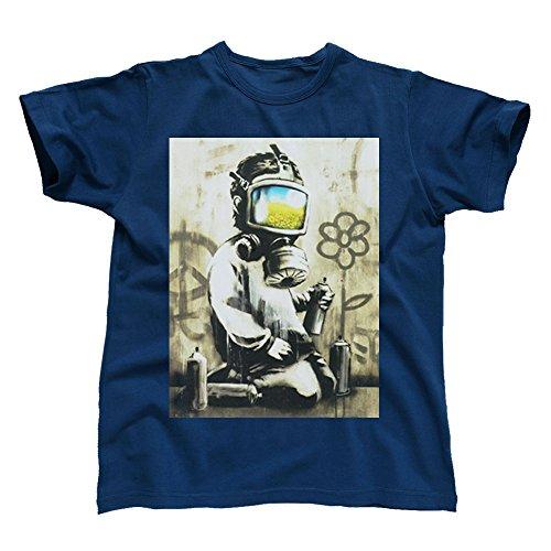 Banksy Gas Mask Graffiti Boy Men's T-Shirt