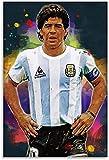 Mural con Estampado De Arte Diego Maradona Argentino y Cuadro para Porch Decor PóSter Lienzo Pintura Pared 11.8'x19.7'(30x50cm) Sin Marco