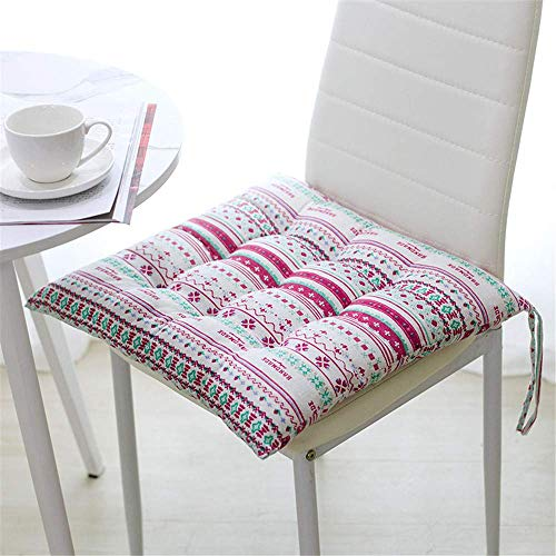 Sitzkissen Kissen Stuhlkissen Auflage Sitzauflage 40x40 cm, Gartenstuhlkissen, Sitzauflage Garten, Balkon Terrasse (Platz,O) O Platz