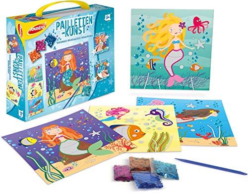 Joustra J41802 Kreativ-und Bastel-Set Pailetten-Kunst, bunt