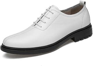 Dingziyue - Scarpe da uomo in pelle traspirante, scarpe casual con piede singolo, scarpe da uomo, colore: bianco, taglia 42