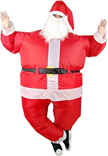 VeroMan クリスマス サンタ 空気で膨らむ コスプレ インフレータブル コスチューム 着ぐるみ 送風機付 USBタイプ