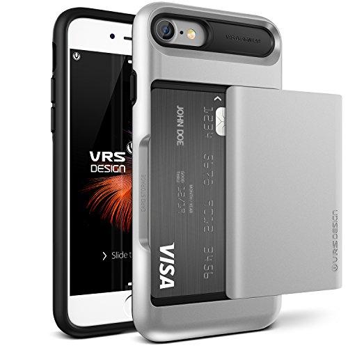 Funda para iPhone 7, diseño VRS [serie Damda Glide] Semi automática ranura para tarjeta con protección de grado militar (padre)