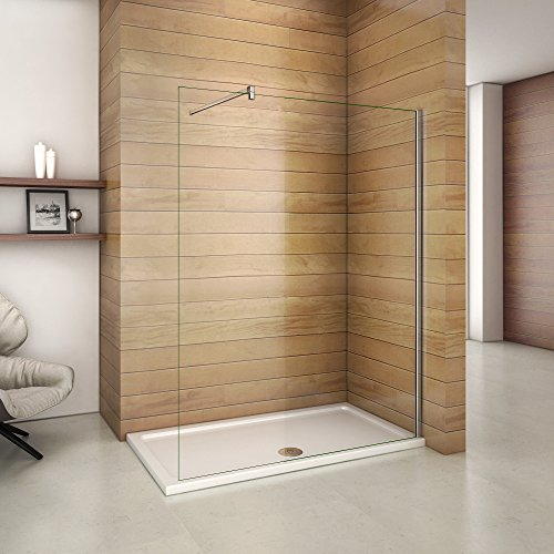 Paroi de douche 160x200 cm en porte douche 10mm verre securit et anticalcaire
