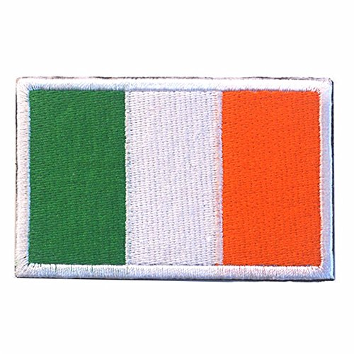 Aquiver bordado insignia Irlanda bandera nacional