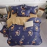 XYIANG Heimtextilien Einfacher Bettbezug Pillowcase Bettwäsche-Set Von Vier, Eine Vielzahl Von Farbstilen Zur Auswahl,4a,2.0mbed