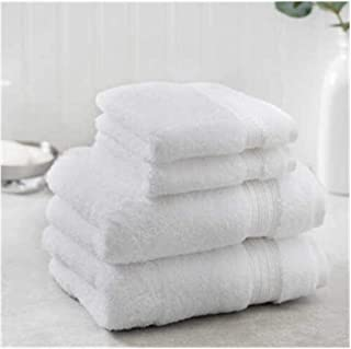 New Charisma Soft 100% Hygro Cotton 4-Piece Hand & Washcloth Towel Set (One Size, White)