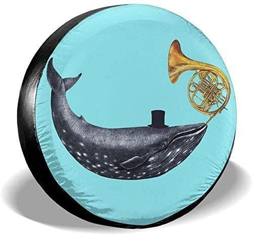 Wale Blasen Trompeten Ersatzreifenabdeckung wasserdichte UV-Sonnenradabdeckungen Passend für, Anhänger, Wohnmobil, SUV 15 Zoll