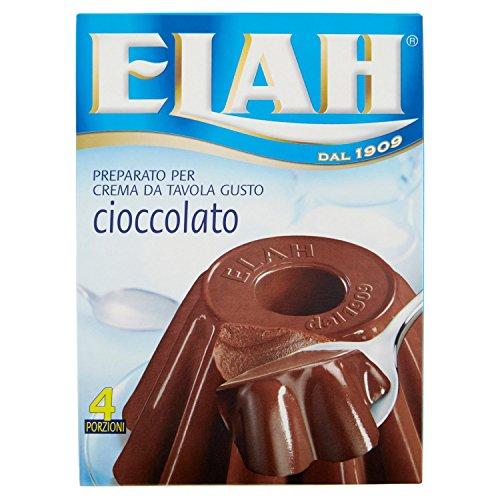 Elah Preparato per Crema da Tavola, Gusto Cioccolato - 80 gr