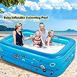 Piscinas hinchables para padres de bebés, piscina de instalación rápida, piscinas para niños, piscina de agua sobre el suelo para jardín, piscinas para niños de verano, azul, 210 cm (82,6 pulgadas)