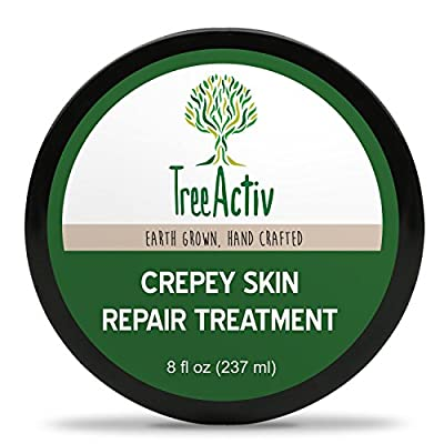 TreeActiv Crepey Skin Repair Treatment | Anti-Aging | Anti-Wrinkle | Organic Ingredients for Face, Neck, Chest, Legs & Arms | Honey, Hyaluronic Acid, Essential Oils, Vitamin E