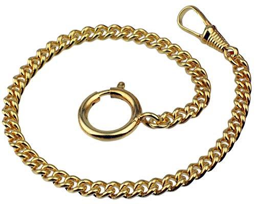Taschenuhrkette Vergoldet Panzer Uhrkette 25cm Taschenuhr Uhr Kette 3010.2855