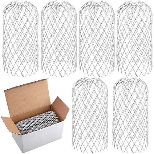 URATOT 6 Pack Metal Gutter Guards Expandable Aluminum Screen Filter Strainer Leaf Gutter Strainer Downpipe Covers for Gutters, Downpipe