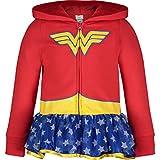 DC Comics Felpa con Cappuccio Bambina Wonder Woman con Zip e Decorazione in tutù 4-5 Anni