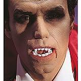 NET TOYS Una dentiera con canini sporgenti zanne da Vampiro per Travestimento Halloween Carnevale da Conte Dracula