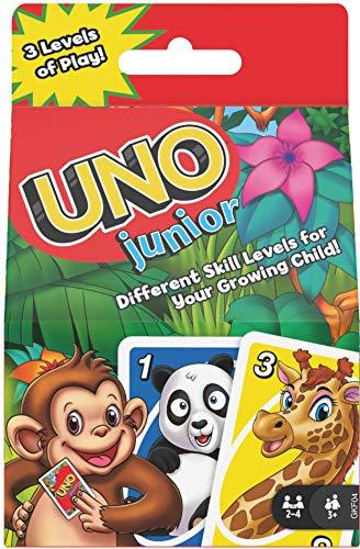 Mattel Games Juego de cartas UNO Junior, juego de mesa para niños...