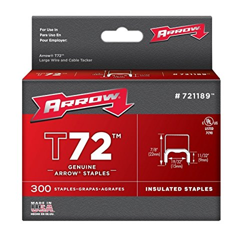 Arrow Fastener 721189 2 Pack 1/2in. T72 Insulated Staple 300/Box