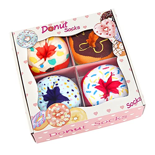 Funny Donut Socks Box - Funny Gifts for Women Ladies...
