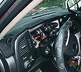 Dash Cover Custom Fit for Chevy Chevrolet Silverado 1500 LT/WT 2007-2013 2500 HD / 3500 HD 2007-2013, GMC Sierra 2007-2013 .Dashboard Cover Pad Carpet (08-13, Black) Y74