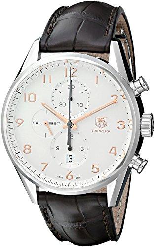 TAG Heuer Carrera - Reloj (Reloj de pulsera, Masculino, Acero, Acero inoxidable, Cuero, Marrón)