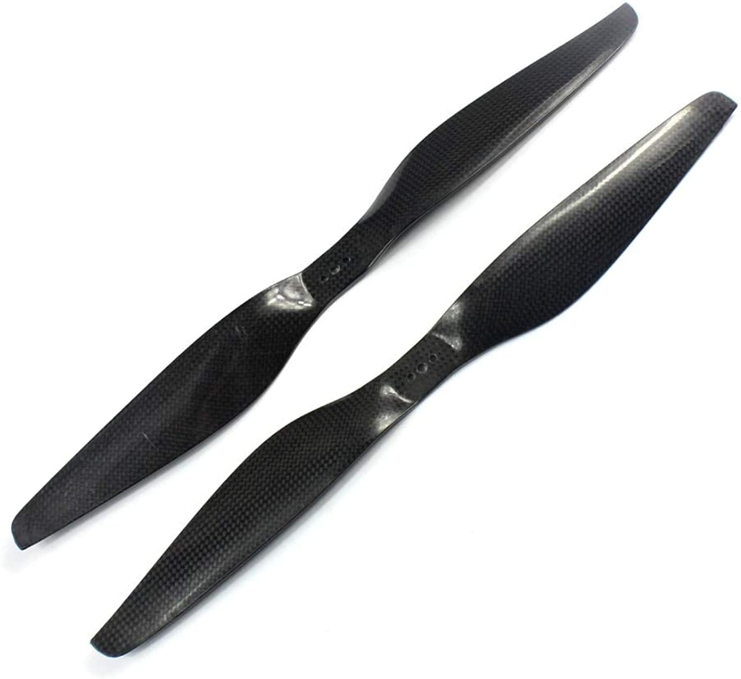 Generic F07288 Tared 1 Pair Carbon Fiber 14 X 4.5 Props 1455 1455R Propeller CW   CCW TL2830 Black for Multicopter