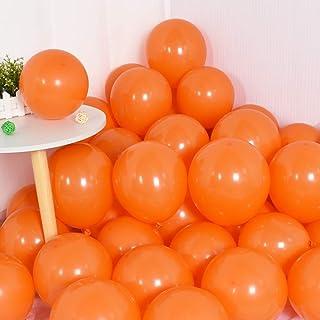 100Pcs Orange Party Balloons 10 Inch Orange Balloon Halloween Latex Party Balloons for Party Birthday Wedding Graduation A...