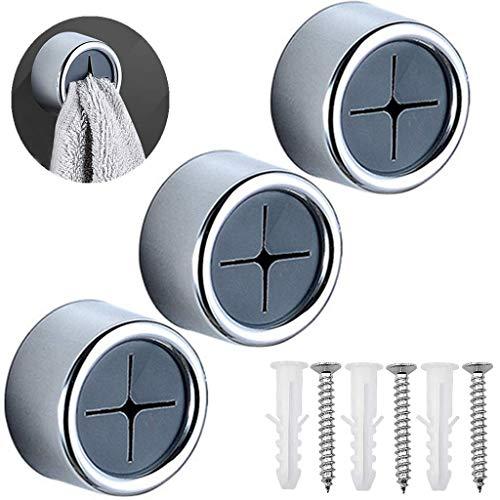 Ouceanwin - 3 ganchos autoadhesivos para toallas, sin taladrar, para baño, cocina, hogar