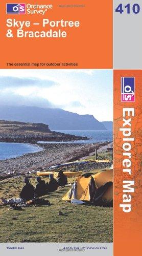 OS Explorer map 410 : Skye - Portree & Bracadale