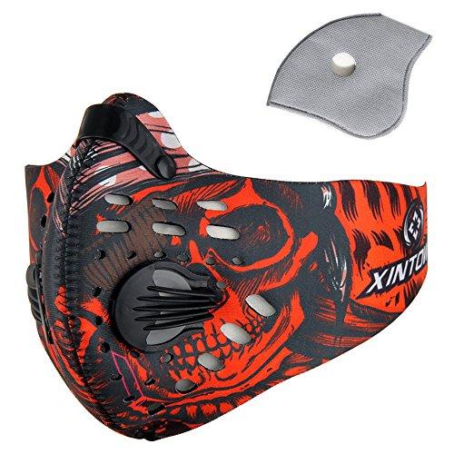 Pioneeryao Máscara Antipolución Máscara para Ciclismo Filtro de Aire...