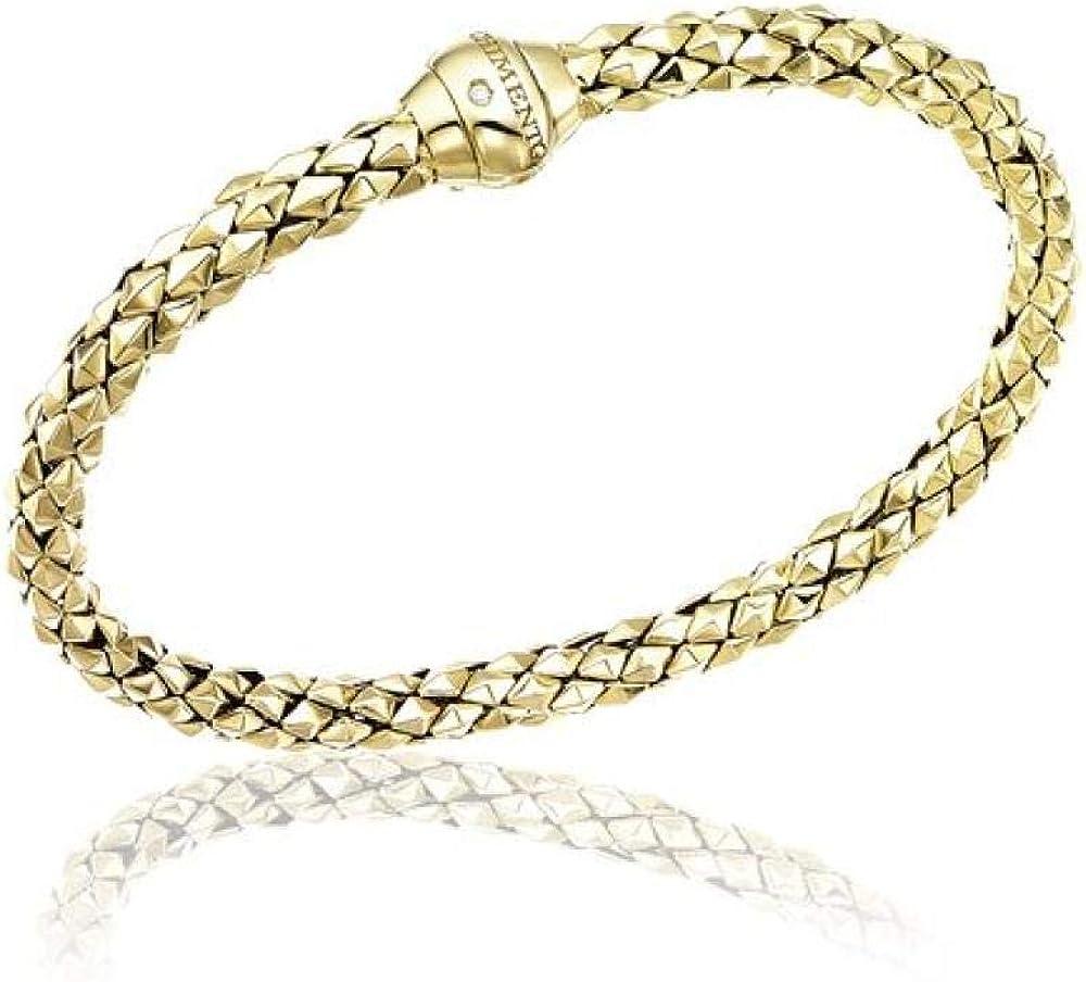 Chimento,bracciale per donna,in oro giallo 18 kt(11,7),con un piccolo diamante bianco sulla chiusura 0,01 ct 1B00850ZB1180