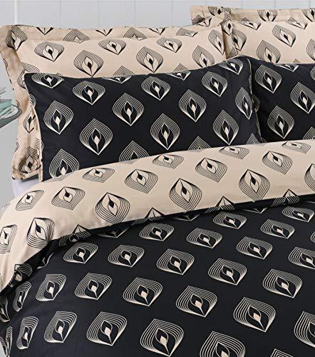 Posh Range Hotel Quality 100% Egyptian Cotton Reversible Duvet Cover Set (Lantern, Super King)