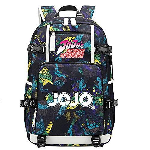 GOYING JoJo's Bizarre Adventure Jonathan Joestar/Joseph·Joestar Shoulder Bag Outdoor Backpack for Plenty of Storage Bag USB Unisex-C