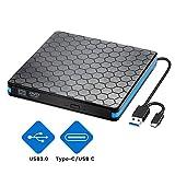 Lecteur Graveur CD/DVD,Externe USB 3.0 et Interface de Type C,Portable CD-RW/VCD-RW,Compatible avec...