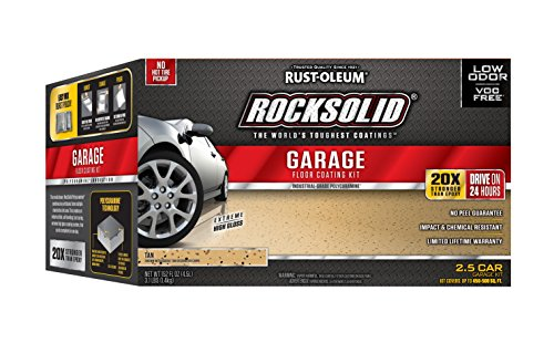 Rust-Oleum 293515 RockSolid Polycuramine 2.5 Car Garage Floor Kit, Tan