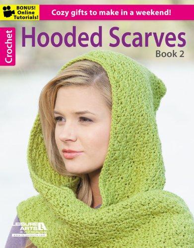crochet hooded scarf - 8