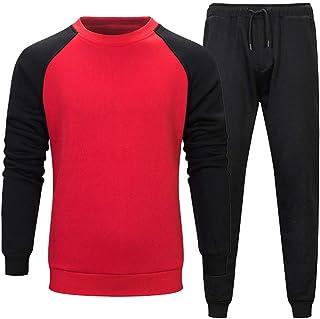Tute Sportive da Uomos Tops Tempo Libero Retro Pantaloni della Tuta Pantaloni Gym Workout Jogging Manica Lunga Pantaloni 2...