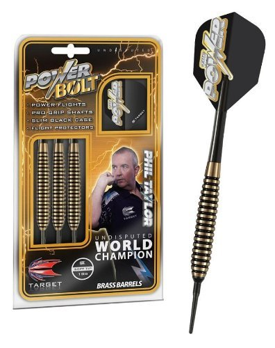 Phil Taylor Power Bolt Soft Darts 18g new darts by World Champion 2013 by Target Darts by Target