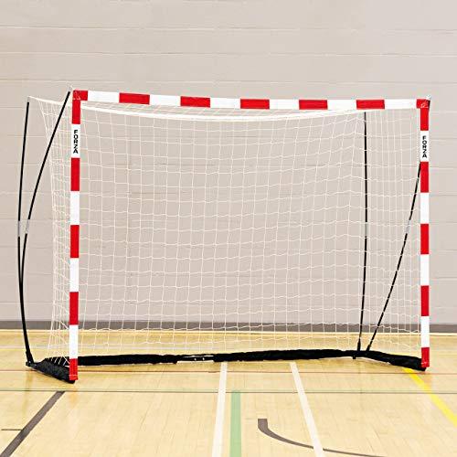 FORZA Handballtor Proflex - 3m x 2m Handballtor - in rot/weiß oder blau/weiß erhältlich (Rot, mit Sandsäcke (x2))