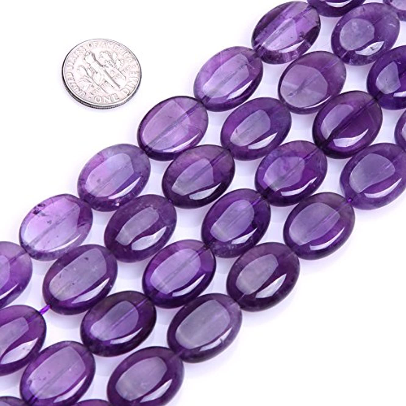 GEM-inside Amethyst Gemstone Loose Beads 13X18mm Oval Gemstone Light Color Energy Stone Power Beads For Jewelry Making 15