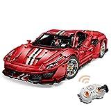 Technic - Bloques de construcción para Ferrari 488 Pista, 3187 piezas 2.4G control remoto coche deportivo coche carreras modelo compatible con Lego Technic (Karton)
