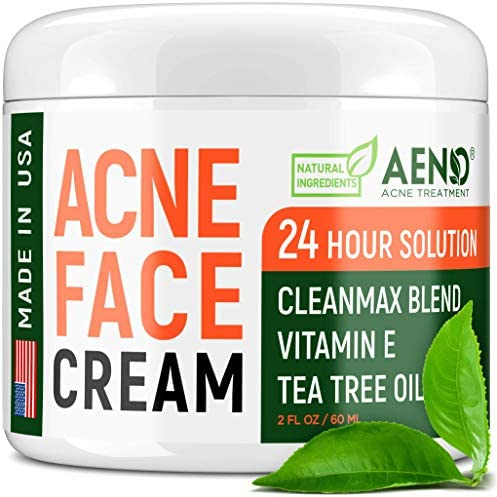 Acne Treatment Natural Cream Made in USA Acne Scar Removal Acne Spot Pimple Cream with Tea Tree product image