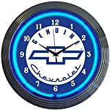 Neonetics Cars and Motorcycles Genuine Chevrolet Neon Wall Clock, 15-Inch, Blue Chevy