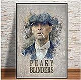 Liuheng Peaky Blinders Temporada Serie De TV Lienzo Pintura Arte De La Pared Cartel del Hogar Arte Decoración De La Pared Pintura Arte De La Pared Decoración para Sala De Estar 40X50cm R-526